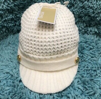 40302c462 NWT MICHAEL KORS Pointelle Cable Knit Hat.. Cream/Ivory..One Size..RTP. $48