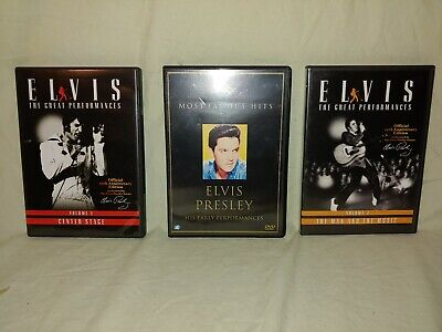 3 DVD´s ELVIS PRESLEY The Great Performences I & II Most Famous H