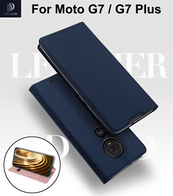 For Motorola Moto G7/ G7 Plus Business Stand Leather Flip Case Skin Cover