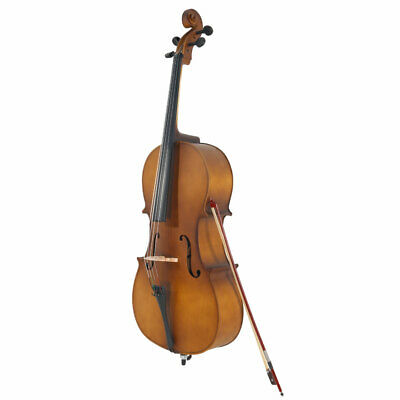 US Full Size 4/4 Acoustic Basswood Cello Solid fingerboard W/Case bag Bow Rosin
