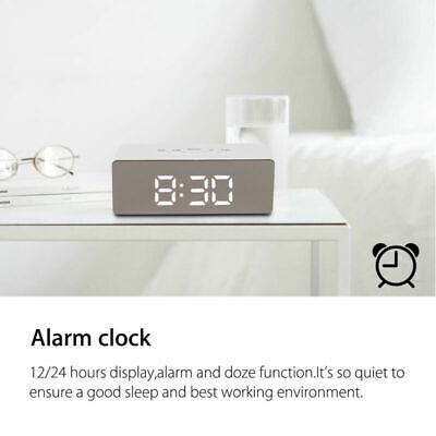 Digital Reloj despertador Alarm Clock Habitación calendario termómetro Light