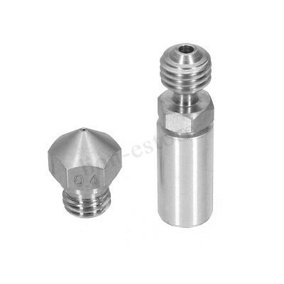 MK10 All Metal Hotend Upgrade Kit 1.75mm 0.4mm Extruder Nozzle for 3D Printer !