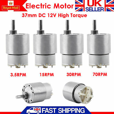3.5/15/30/70RPM  37mm DC 12V High Torque Gear Box Speed Control Electric Motor