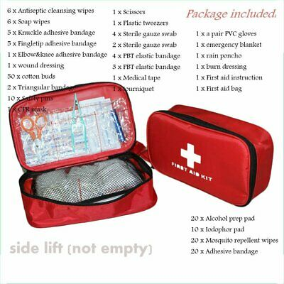 First Aid Kit Bag Travel Camping Sport Medical Emergency Survival 4W