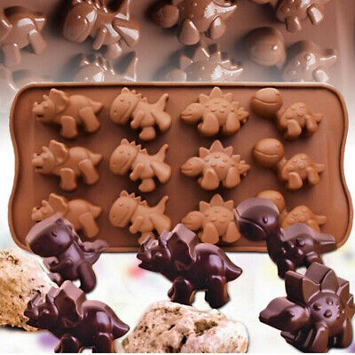 3D Dinosaur Silicone Cake Decorating Mold Candy Cookie Chocolate Baking Mold