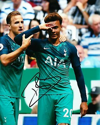 Dele Alli Signed 10X8 Photo SPURS Tottenham Hotspur AFTAL COA (1255)