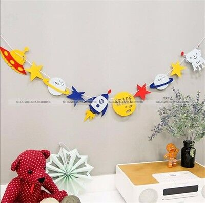 1x Hanging Bunting Flags Kids Baby Room Decor Brithday Party Wedding Kit