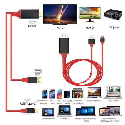 For Samsung Galaxy S9 S8 + Note 9 8 LG G6/G5 USB C 3.1 Type-C to HDMI HDTV Cable