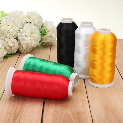 HOT 5000m Cones Polyester Bobbin Thread Filament Colors for Embroidery Machine !