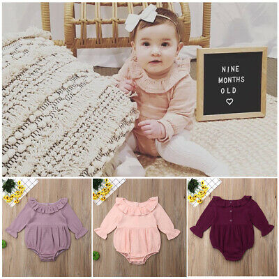Toddler Newborn Baby Girl Long Sleeve One Piece Romper Jumpsuit Outfit Clothes