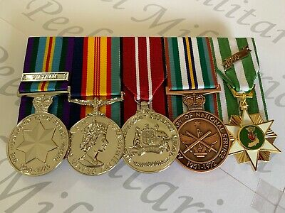 Vietnam, National Service, Set of Full Size Replica War Medals.