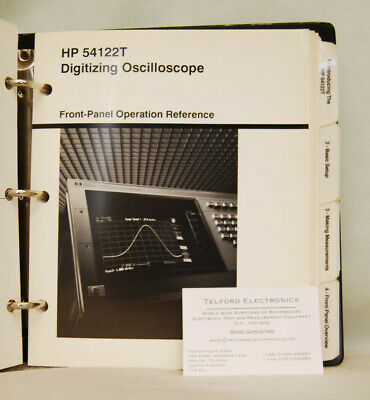 HP54122T Digitizing Oscilloscope Front-Panel Operation Reference