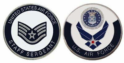 """AIR FORCE ENLISTED RANKS Staff Sergeant """"E5'' Collectible"""