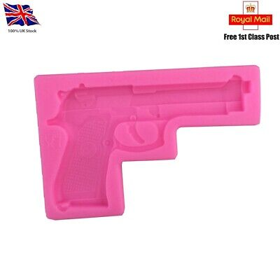 Cookware, Dining & Bar Gun Pistol Shaped Silicone Cake Ice Chocolate Mould Fondant Mold Sugarcraft E9R7