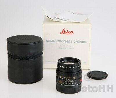Leica *** Summicron-M 1:2.0 /50 Mm In Black Finish *** ( Leica Number : 11826 )