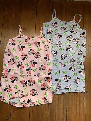 Disney Playsuit Shorts Minnie Mouse Girls Pink Grey