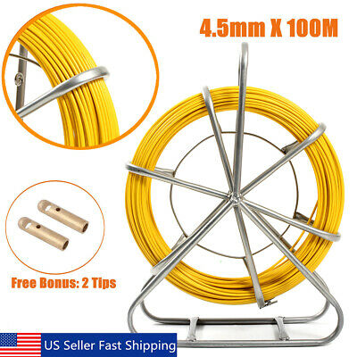 Home Improvement 8mm 150m Fiberglass Wire Cable Running Rod Snake Fish Rodder Puller Flexi Lead Electric Fiberglass Wire Cable Running Rod Puller Easy And Simple To Handle