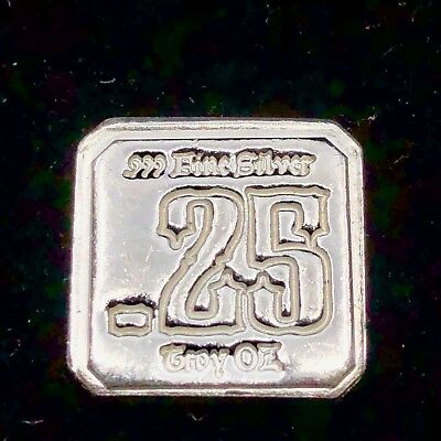2013 1/4 Troy Oz. .99 Fine Silver 'Suns of Liberty' .25 ounce Hand Poured Square