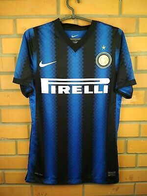 new concept ac204 544a3 INTER MILAN AUTHENTIC jersey 2010 2011 shirt player issue 382252-010 soccer  Nike