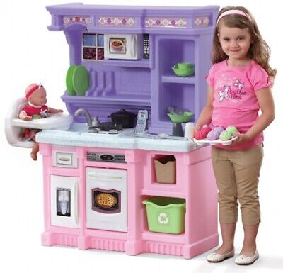LITTLE KID KITCHEN Play Sets Kids Pretend Girls Toys Cooking ...