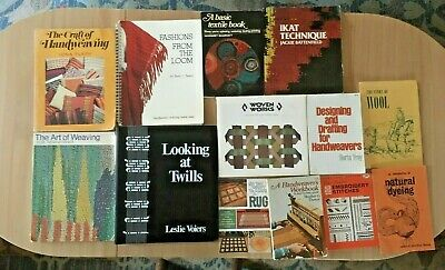 Weaving Books and Booklet Step By Step Weaving Warping All By Yourself Lot of 13