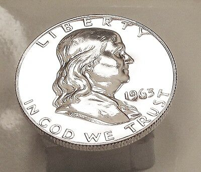 1963  Franklin   Choice  Proof   90%   Silver  >Coin  as  Pictured<  #1102  4