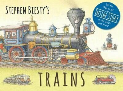 Stephen Biesty's Trains: Cased Board Book with Flaps by Ian Graham (Hardback,...