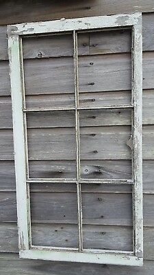 Architectural Salvage - Distressed ANTIQUE WINDOW SASH - C. 1950 36x19 6 PANE