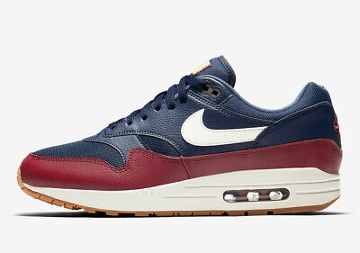 promo code 468b9 a14cc Nike Air Max 1 USA NAVY BLUE TEAM RED SAIL OFF WHITE OLYMPIC AH8145-400