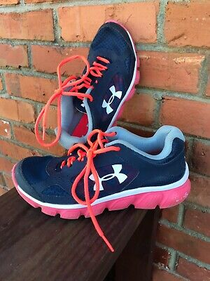 1f88e19a UNDER ARMOUR ~ Tennis Shoes~ Youth Girls ~ Size 4.5 ~ Navy Blue