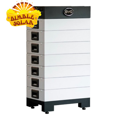 BYD 48V Lithium Battery B-BOX 7kWh unit - includes 1x Base + 2x Batteries