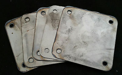 5pcs - 5 x 5 x .125 inch Square flange plate plates custom steel mounting cover