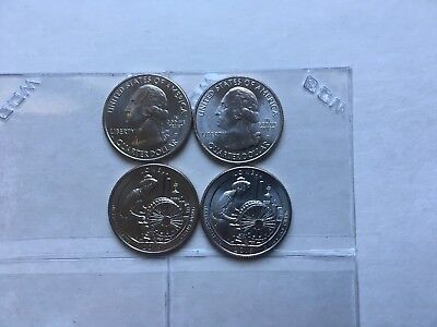 2 -  P  2019 Lowell Nat. Hist. Park Quarter Mass. ATB N BCW FLlPS ON HAND!!
