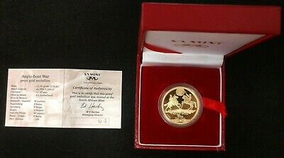 South African 24kt 1/2 oz Gold - Limited Edition Anglo/Boer War - Guerilla Phase