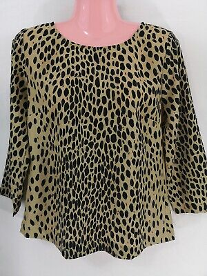 78b3f6856f89 J. Crew Factory Women's Top Size Sm Striped Scoop Neck Animal Print Blouse  91566