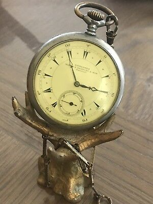 Antique Longines Open Face Pocket Watch Limited & Exclusive Edition Baghdad Rare