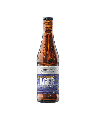 Monteith's Barber Lager Bottles 330mL Beer case of 24