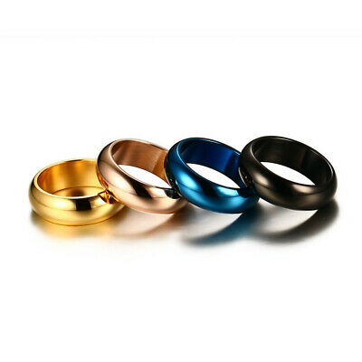 Men's Titanium Stainless Steel Silver Comfort Fit Plain Wedding Ring & Band 7MM