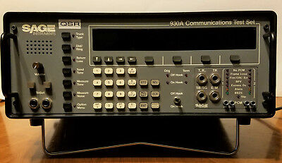 SAGE Industries 930A Communication Transmission Test Set / With Power Cord