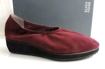 0465e6f481d Womens Eileen Fisher Mellow Platform Low Wedge Shoes Raisonette Suede Size  9.5