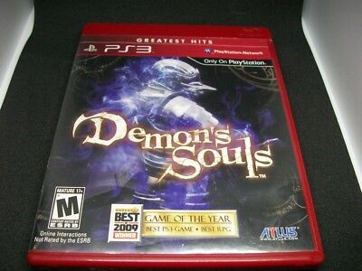 Demon's Souls (Sony PlayStation 3, 2009) Greatest Hits good condition w/ manual