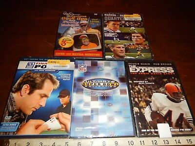 Sports Bloopers NFL Poker Super Bowl DVD Movies Lot of 5 dvds Movie New & Sealed