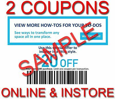 3x Lowes $20 OFF $100 INSTANT Discount Fastest DELIVERY-1COUPON INSTORE/ONLINE