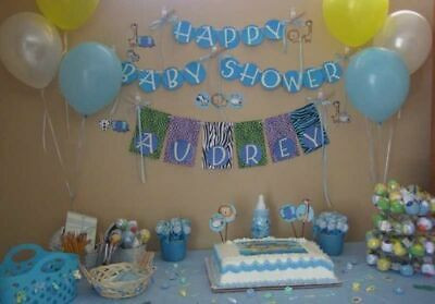 Baby Shower Blue Theme Foil & Latex Balloons New Born Its a Boy Baloons Mum to b