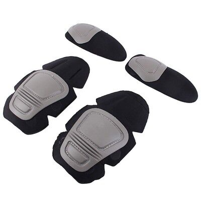Tactical Knee and Elbow Protector Pad Suit 2 Knee Pads & 2 Elbow Pads A33X