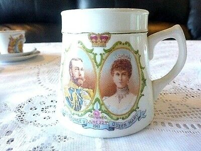 King George V Queen Mary Coronation Mug 1911 Free Post Aus