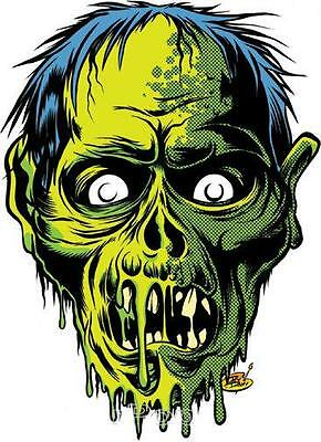 Zombor STICKER Decal Dirty Donny Green Zombie Freak With Blue Hair DD78