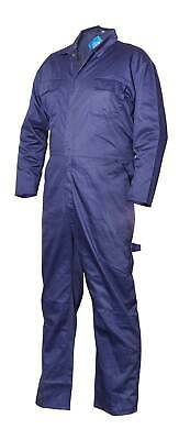 Polycotton Coverall Navy Large Regular Leg Chest 108cm-112cm - Supertouch 51903