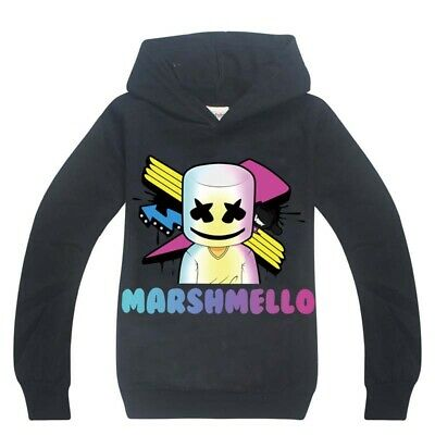 Hot DJ Marshmello Mask Music Hoodies Kids Boys Casual Hoodies Tops Clothes tg