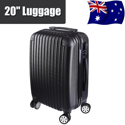 Carry On 20 inch Luggage Spinner Wheel Trolley Travel Bag Lock suitcase Cabin AU